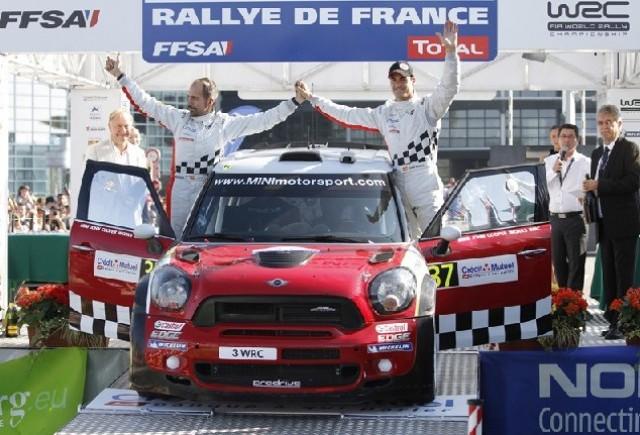MINI WRC Team pe locul doi in Raliul Frantei