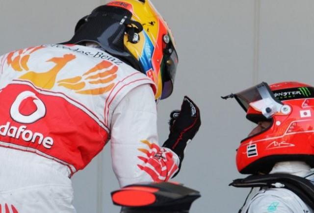 Hamilton: Schumacher mi-a furat pole-ul