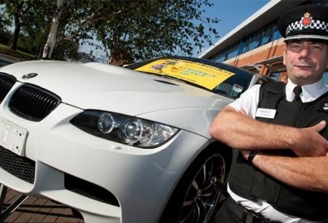 Politia din Manchester a confiscat un BMW M3