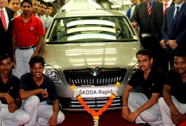 Skoda lanseaza Rapid in India