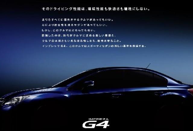 Teaser Impreza Sport si G4
