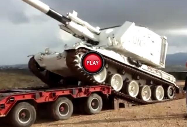 VIDEO: Cum sa rasturnam un tanc