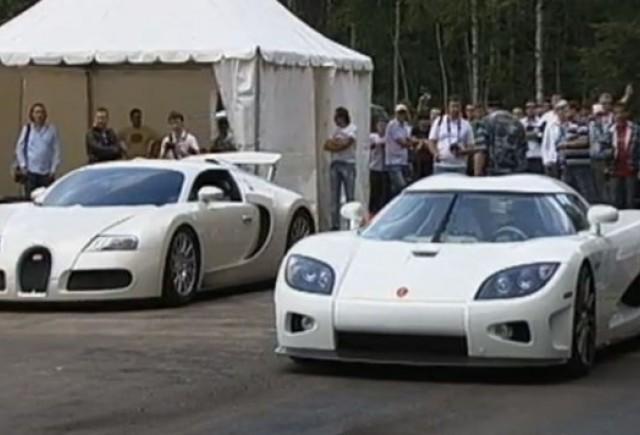 VIDEO: Bugatti Veyron versus Koenigsegg CCXR