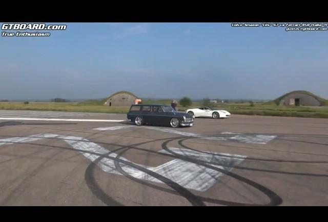 VIDEO: Volvo Amazon Kombi vs Ferrari 458 Italia