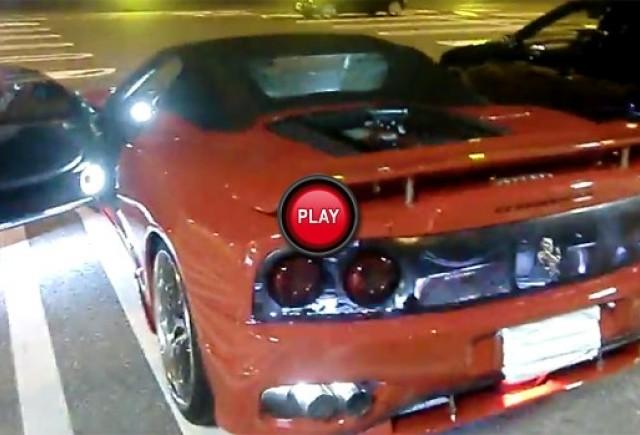 VIDEO: Ferrari 360 Spider si instalatia de lumini