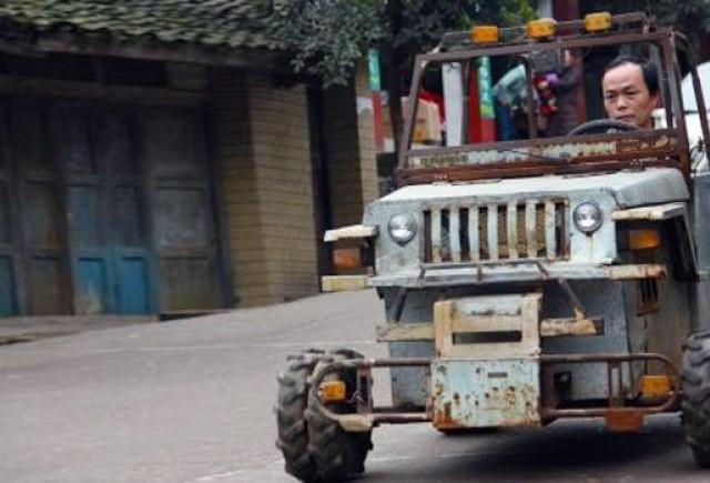 Un chinez si-a facut un Hummer cu 500 de euro