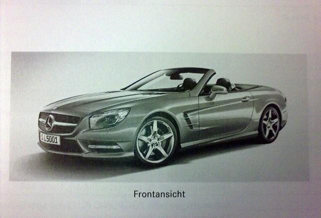 Imagini cu Mercedes SL Roadster din brosura oficiala