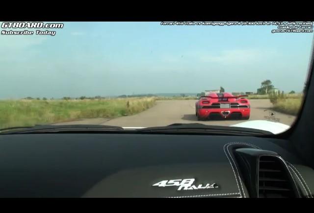 VIDEO: Ferrari 458 Italia vs Koenigsegg Agera R