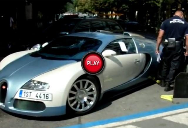 VIDEO: Cum ridica politia un Bugatti Veyron 16.4