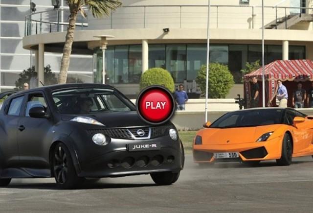 VIDEO: Nissan Juke-R vs Lamborghini, Ferrari si Mercedes