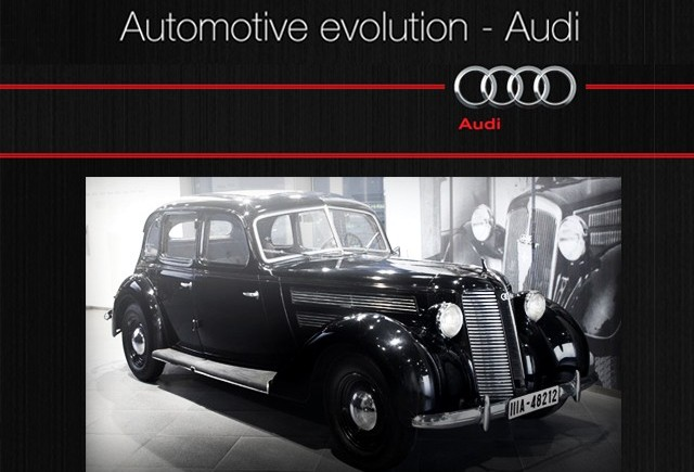 INFOGRAPHIC: Automotive evolution - AUDI