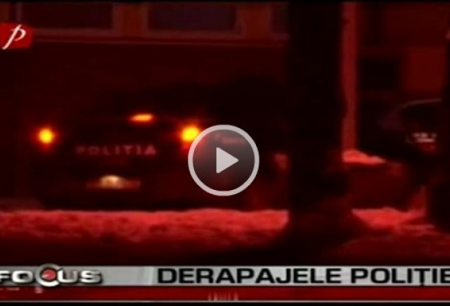 VIDEO: Drifturi cu masina politiei prin Sibiu