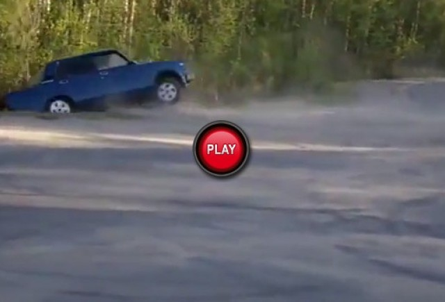 VIDEO: Cu Lada din drift in sant