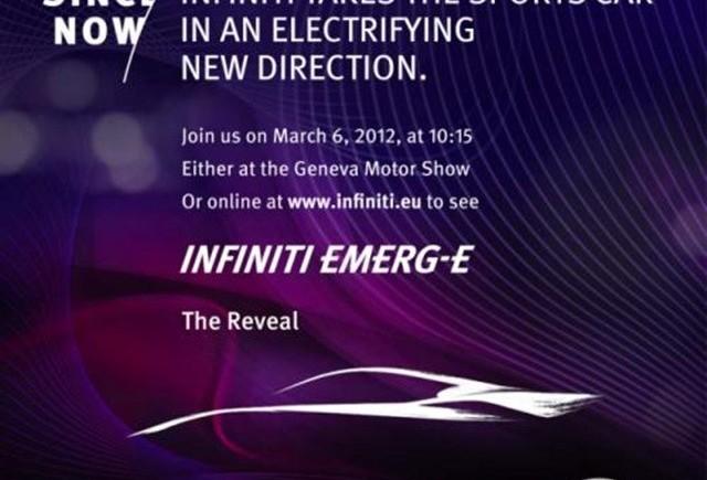 Infiniti electric sport concept a fost numit EMERG-E