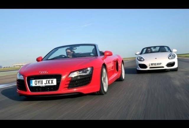 VIDEO: Porsche Boxter Spyder vs Audi R8 Spyder