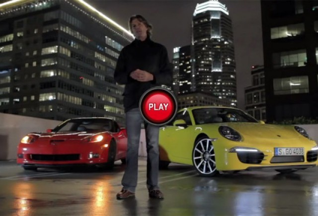 VIDEO: Porsche 911 Carrera S vs Corvette Grand Sport