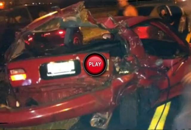 VIDEO: Un sofer beat da peste cap o cursa ilegala de masini