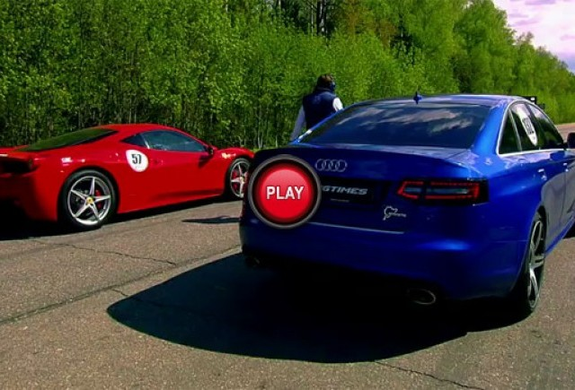VIDEO: Ferrari 458 se ia la tranta cu alte masini