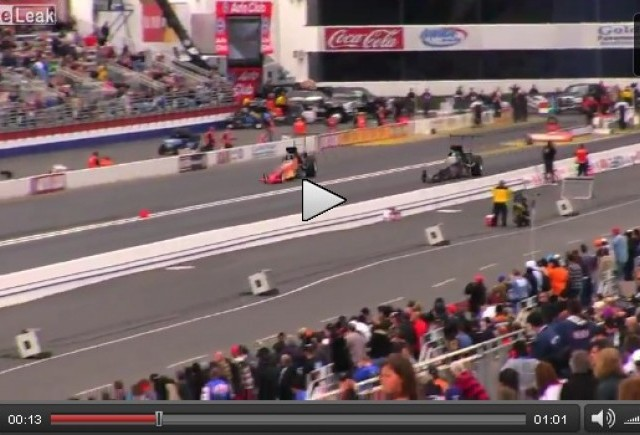 VIDEO: Dragster implicat intr-un accident violent