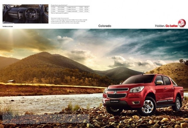 Holden ne prezinta camionetele Colorado Pickup