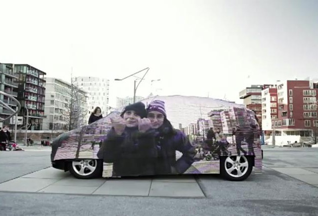 Masina invizibila facuta de Mercedes-Benz
