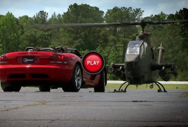 VIDEO: Cei de la Top Gear SUA se intrec cu un elicopter Cobra
