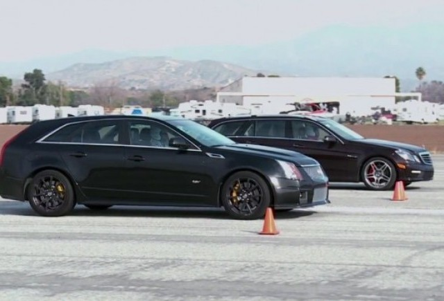 VIDEO: Cadillac CTS-V Wagon vs Mercedes-Benz E63 AMG Wagon