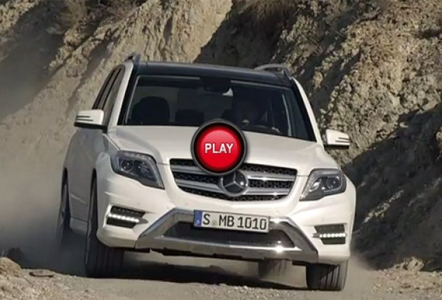 Mercedes GLK 2013 isi face debutul video