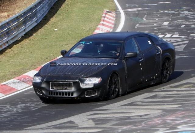 Viitorul Maserati Quattroporte surprins la Nurburgring