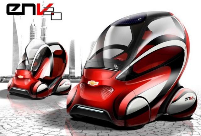 General Motors prezinta viziunea asupra prototipului Chevrolet EN-V 2.0 la Beijing