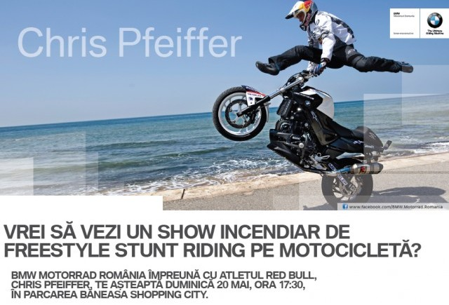Freestyle Stunt Riding cu maestrul Chris Pfeiffer la Băneasa Shopping City