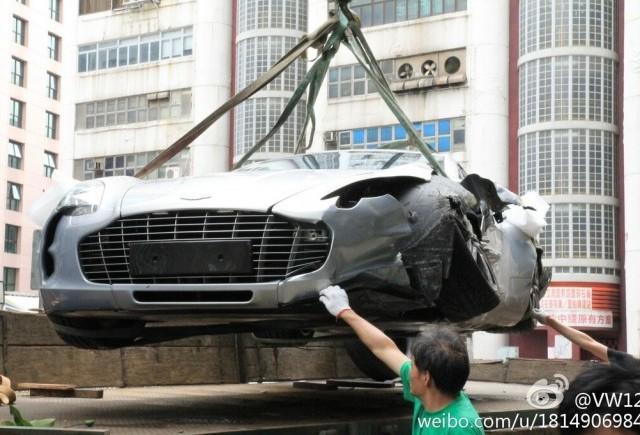 Primul accident cu Aston Martin One-77