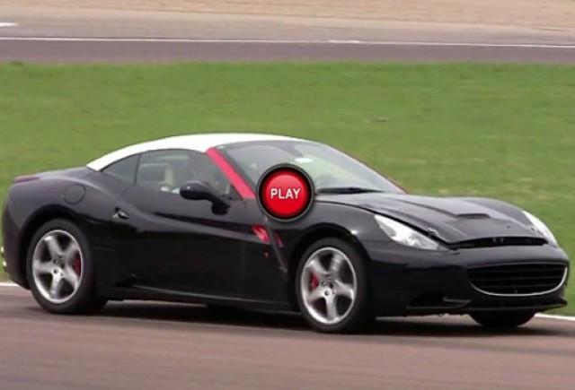 Material video spion cu viitorul Ferrari California