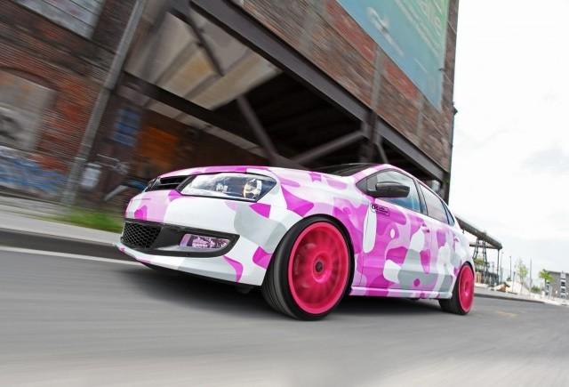 TUNING: O pata roz numita Volkswagen Polo