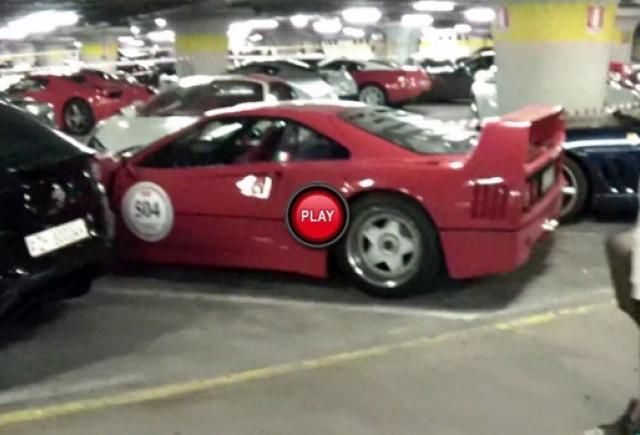 140 de modele Ferrari au fost filmate intr-o parcare
