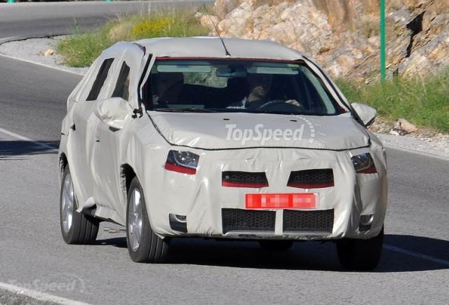 Imagini spion cu noua mandrie a Romaniei - Dacia Logan 2
