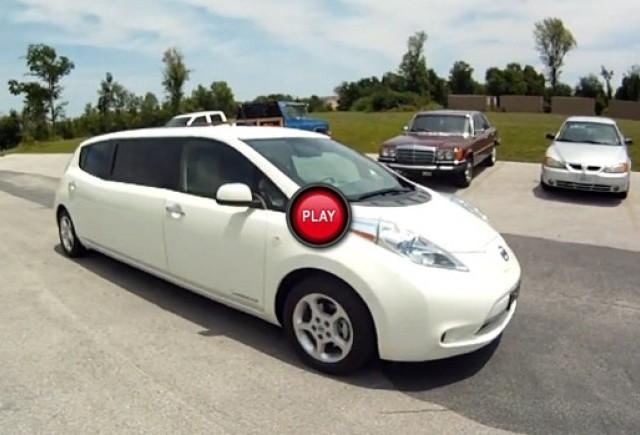 Nissan Leaf transformat intr-o limuzina luxoasa