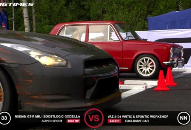 VIDEO: Lada 2101 impotriva unui Porsche 911 Carrera RS si Nissan GT-R