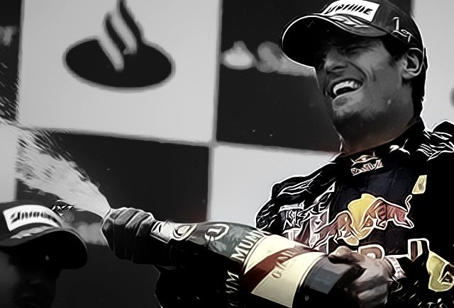 Webber reuseste sa castige la Silverstone dupa o manevra inteligenta
