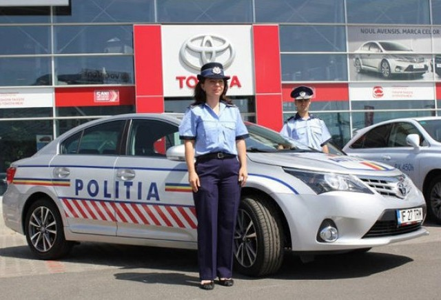 Politia Transporturi va circula cu o Toyota Avensis