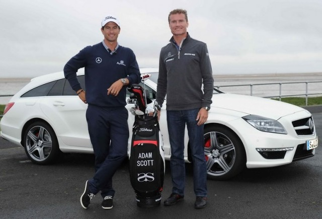 Intalnire de gradul 0: Adam Scott si David Coulthard in noul Mercedes-Benz CLS 63 AMG Shooting Brake