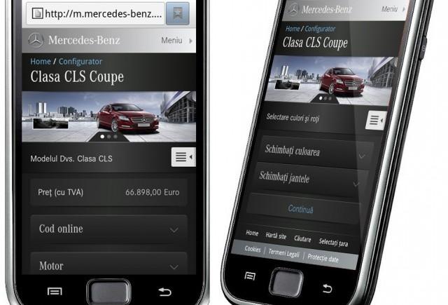 Mercedes-Benz Romania lanseaza versiunile de website pentru smartphone si sistemul multimedia