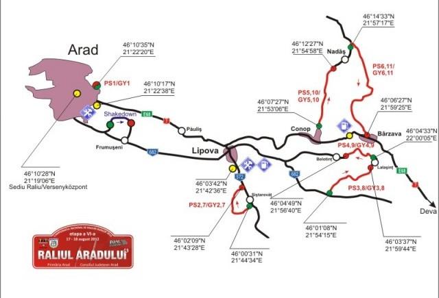 76 de echipaje concureaza la Raliul Aradului- etapa dubla in Romania si Ungaria
