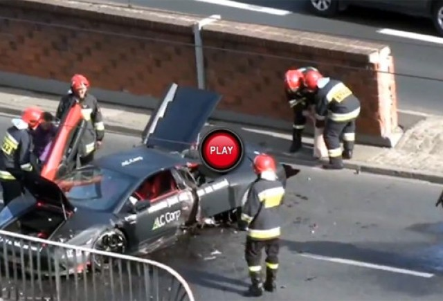 VIDEO: Accident de lux in Polonia cu un Lamborghini Murcielago
