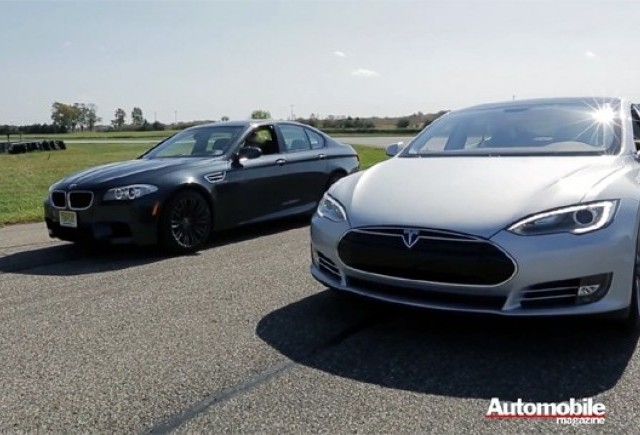 VIDEO: Duel intre Tesla Model S Performance si BMW M5