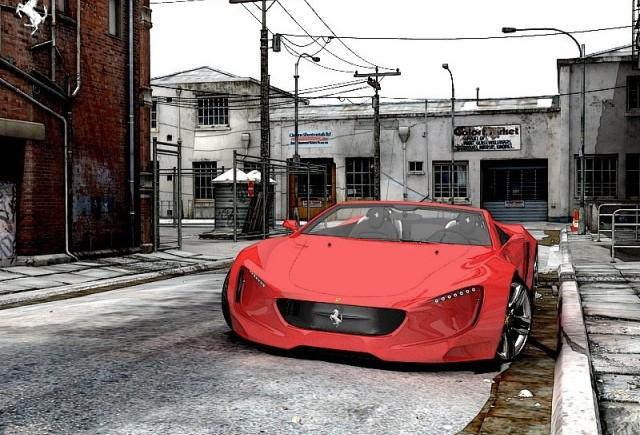Studiu de design - Ferrari Spider