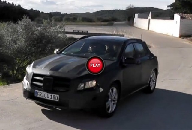 Material video spion cu Mercedes GLA