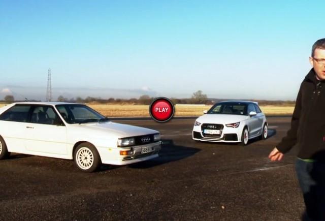 VIDEO: Audi A1 Quattro versus originalul Ur-Quattro