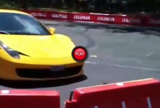 Intre timp in Brazilia - Accident cu Ferrari 458 Italia