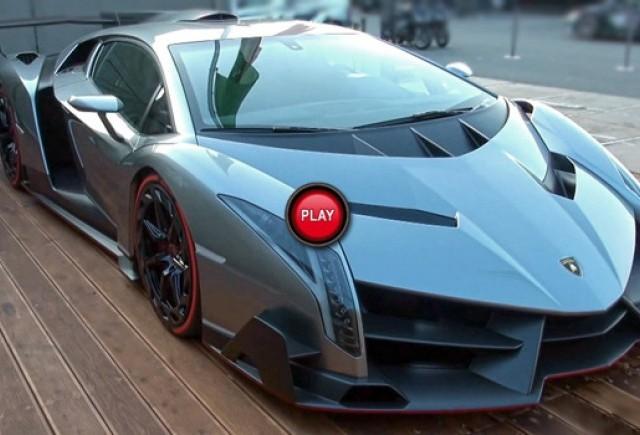 VIDEO: Iata cum suna Lamborghini Veneno